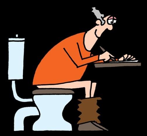 Op het toilet (2)