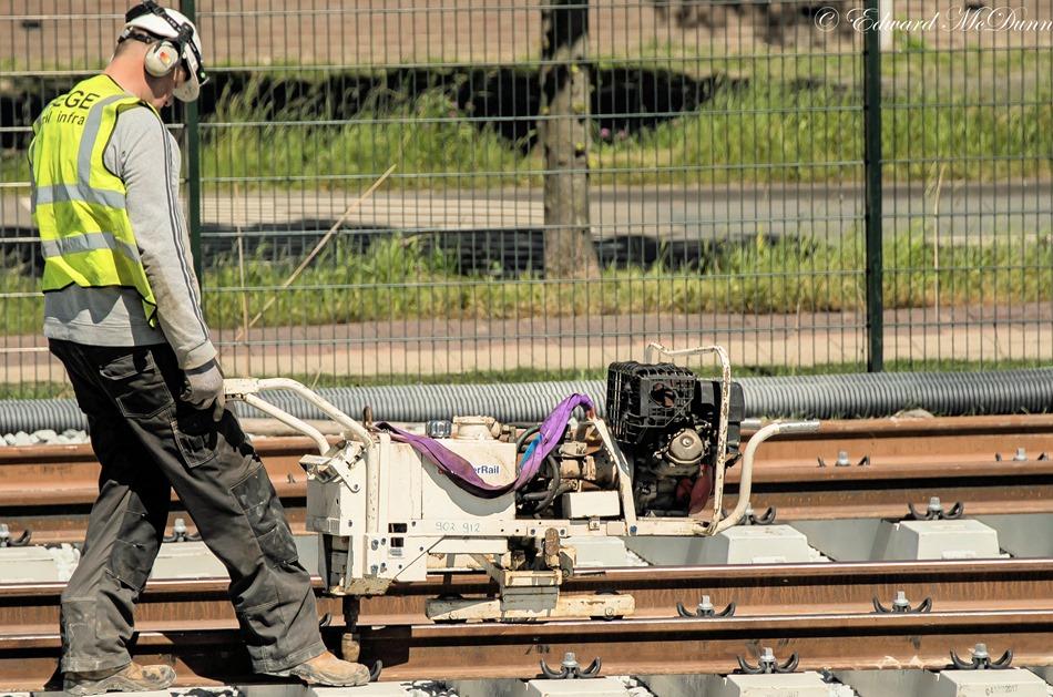 Werk aan Metrolijn (6)