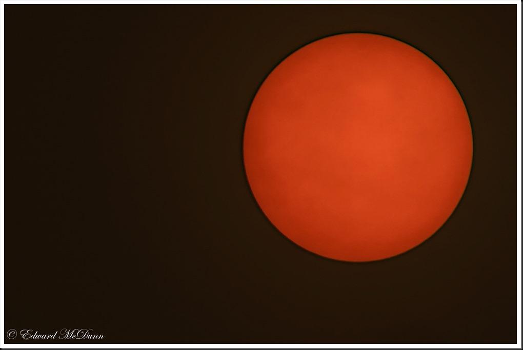 Bloedrode zon
