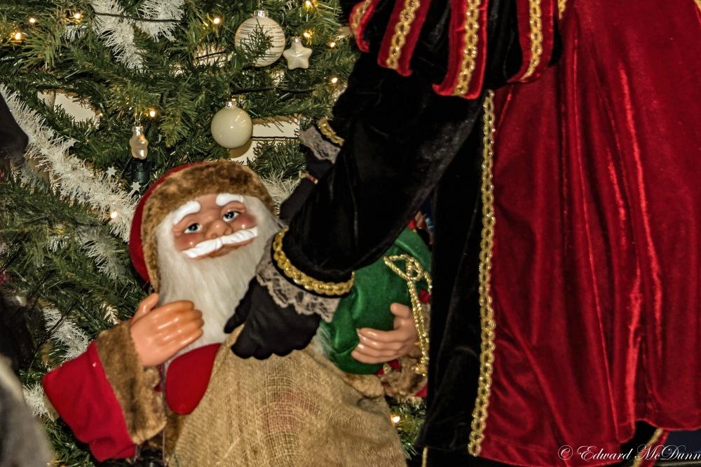 Kerstman in de zak